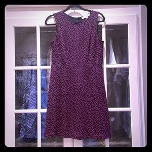 Burgundy Cheetah Print Dress